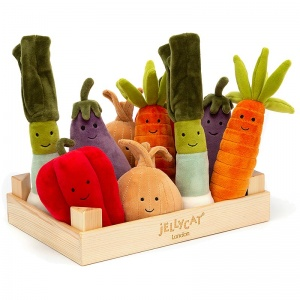 Vivacious Vegetables Wooden Box